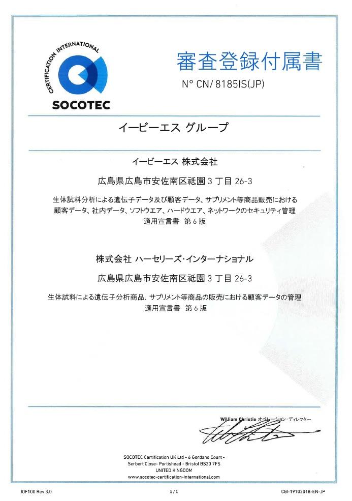 ISO審査登録附属書